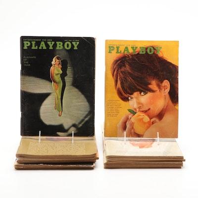 """Playboy"" Magazine Collection Featuring Bond Girls, 1960s"