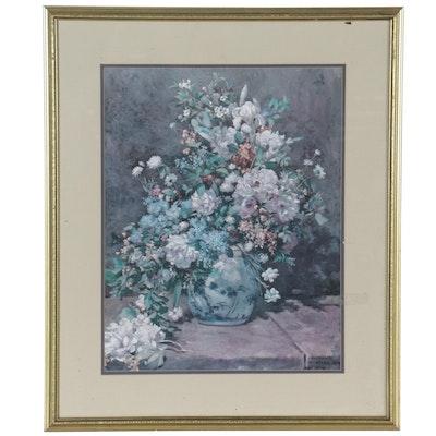 "Offset Lithograph After Pierre-Auguste Renoir ""Spring Bouquet"""