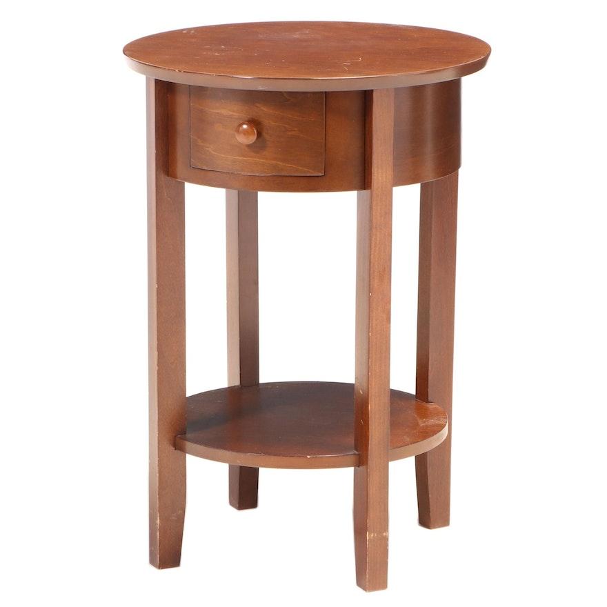"Pottery Barn ""Julia"" Mahogany-Stained Bedside Table"