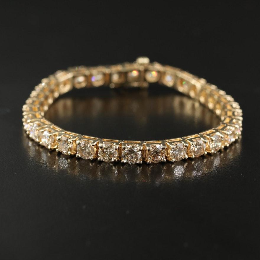 14K 10.00 CTW Diamond Line Bracelet
