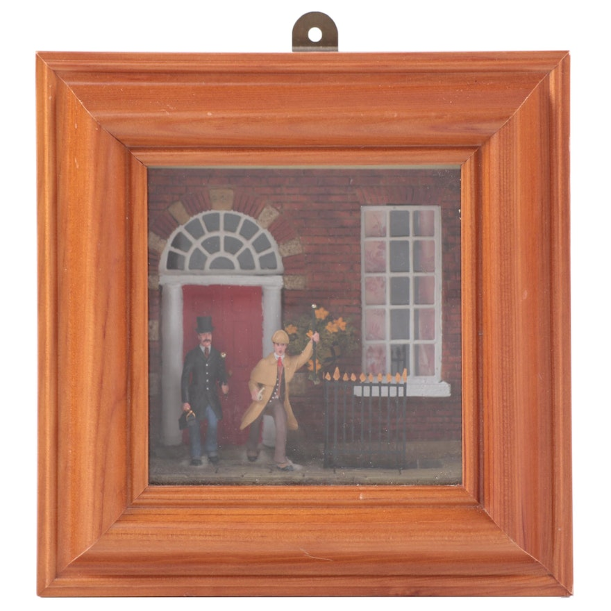 """J.G. Miniatures """"Holmes and Watson on the Case"""" Model Wall Hanging"""