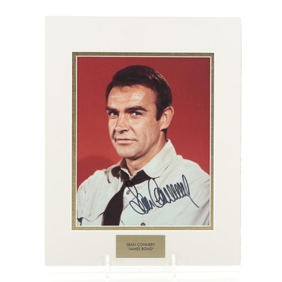 "Sean Connery Signed ""James Bond"" Movie Photo Print, COA"
