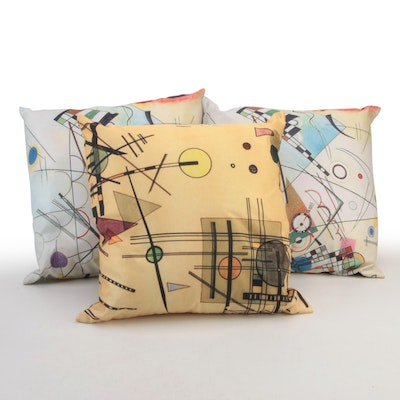 """Printed Throw Pillows after Wassily Kandinsky Including """"Composition VIII"""""""
