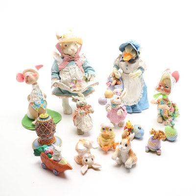 Fitz and Floyd, Midwest Importer and Other Rabbit Figurines