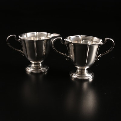 Webster Co. Sterling Silver Creamer and Open Sugar