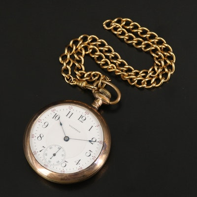 1914 Waltham Pocket Watch and Display Stand