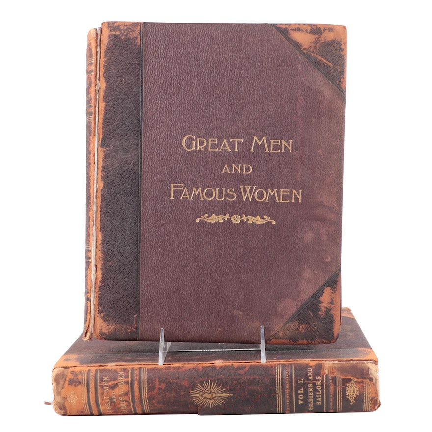 """""""Great Men and Famous Women"""" Partial Set Edited by Charles F. Horne, c. 1894"""