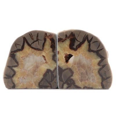 Septarian Geode Bookends