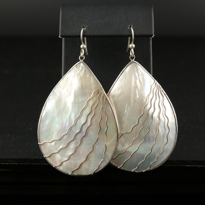 Sterling Silver Shell Drop Earrings
