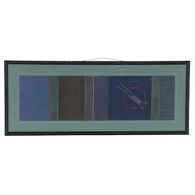 "Abstract Monoprint ""Secaci IX,"" Late 20th Century"