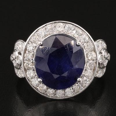 14K Corundum and 1.31 CTW Diamond Ring