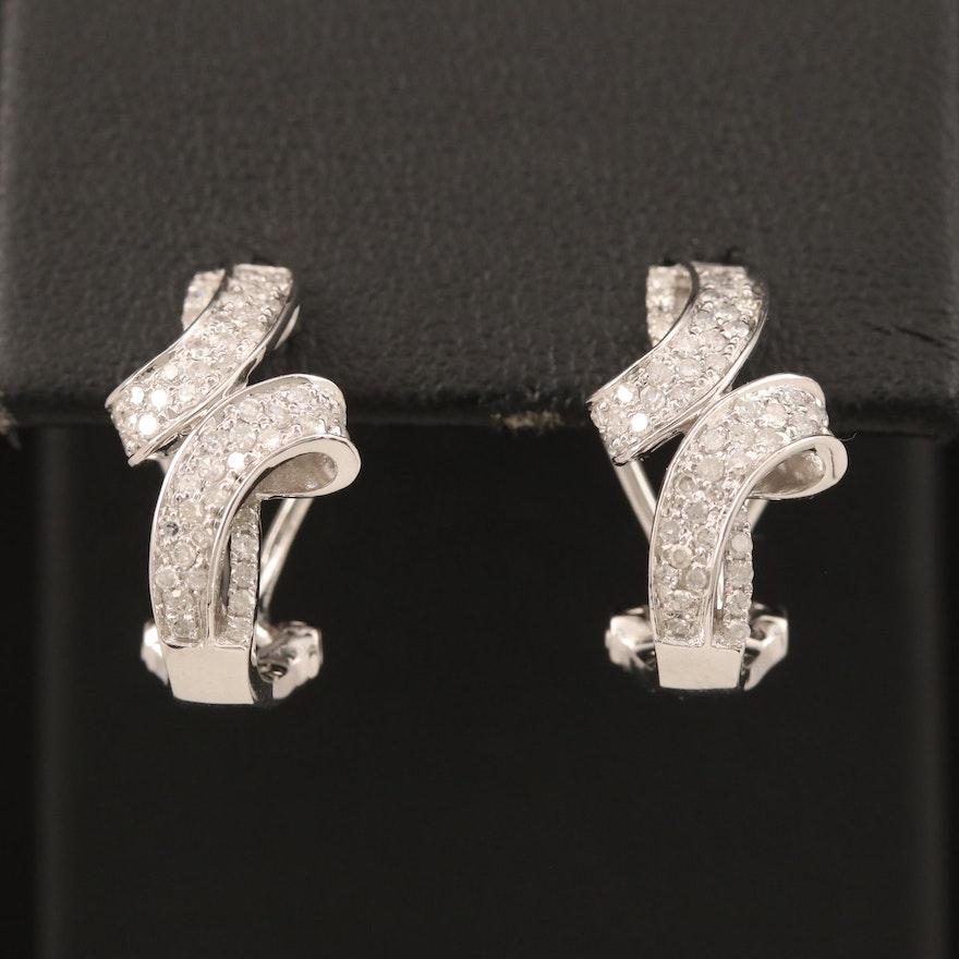 10K Diamond Earrings