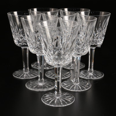 "Waterford ""Lismore"" Crystal Claret Wine Glasses"