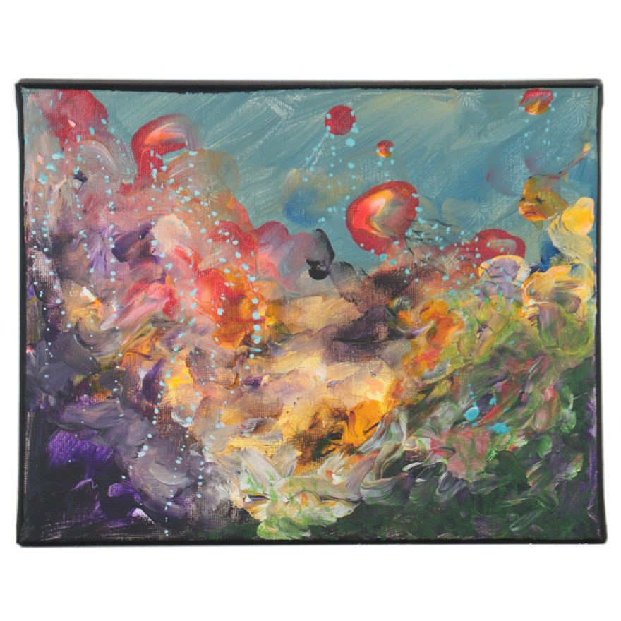 """Jacqueline Waters Oil Painting """"Life Under the Sea"""""""