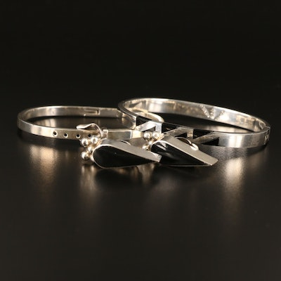 Sterling Bangles and Clip Earrings