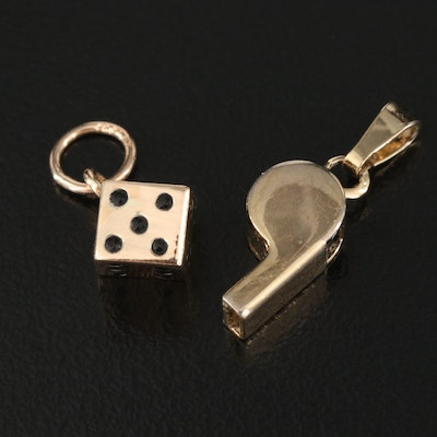 10K Dice Charm with Whistle Charm
