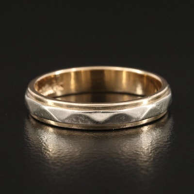 Bliss Ring Co. 14K Yellow and White Gold Band