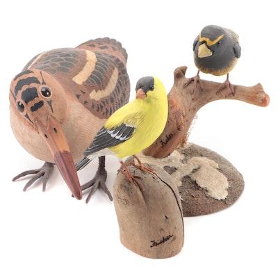 Randy and Elaine Fisher Handmade Bird Figurines with Other Figurine