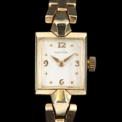 14K Hamilton Quartz Retro Fit Wristwatch