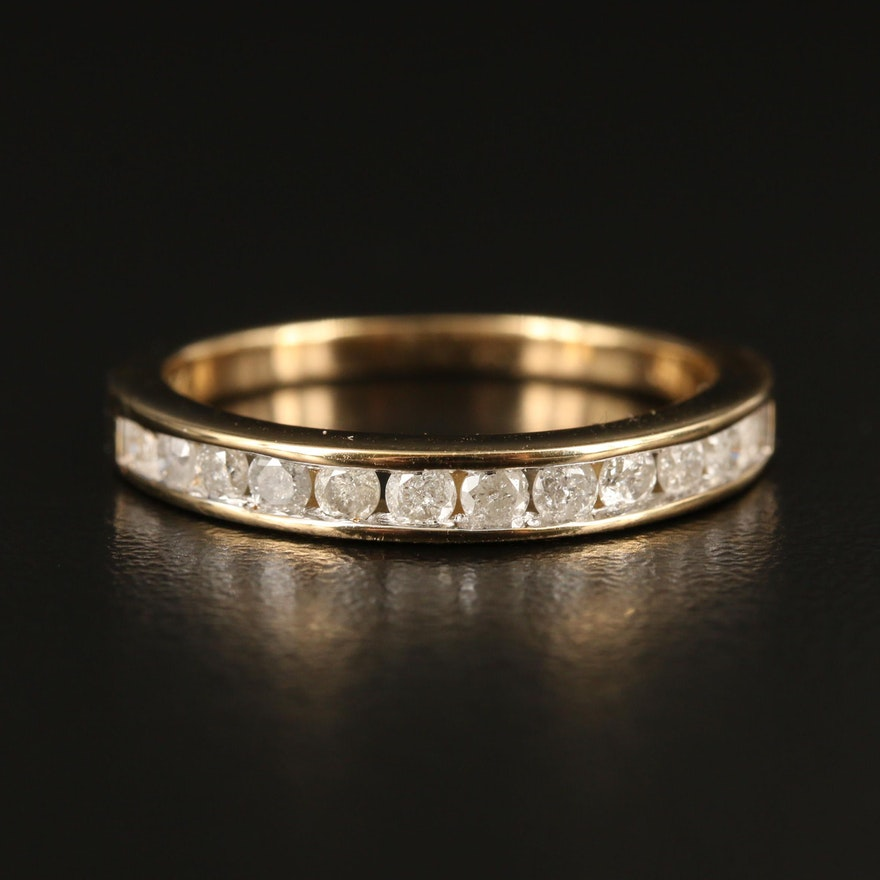 10K Diamond Channel Ring