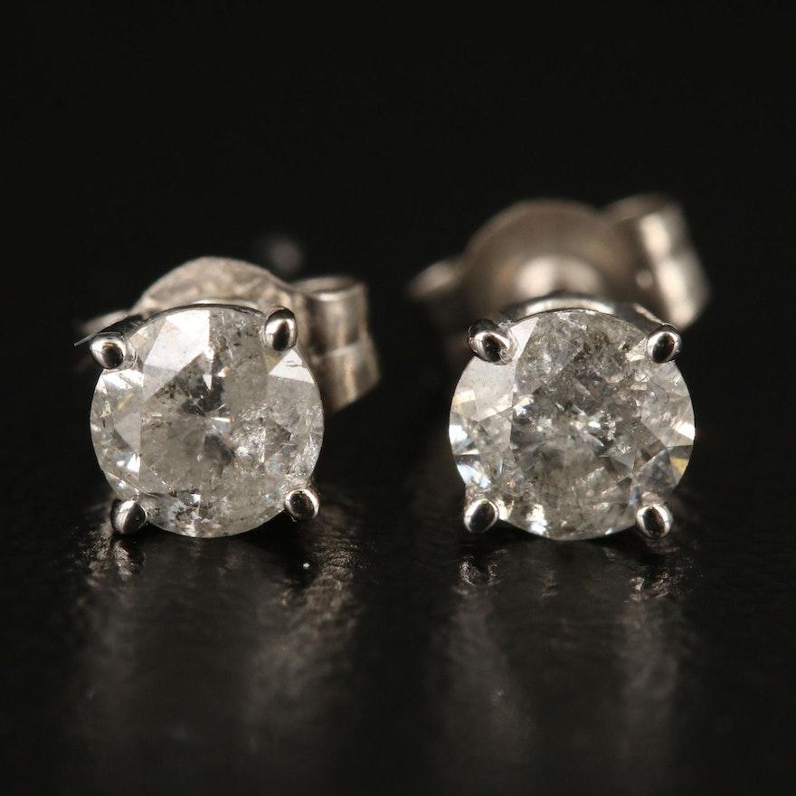 14K 0.64 CTW Diamond Stud Earrings