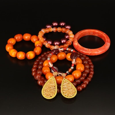 Necklace, Bracelets and Earrings Grouping