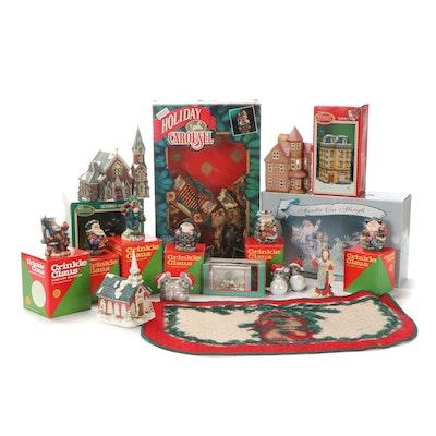 Lincolnshire Santa On Sleigh Figurine and Other Christmas Decor