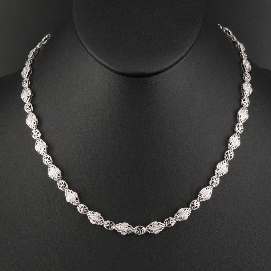 18K 1.00 CTW Diamond Necklace