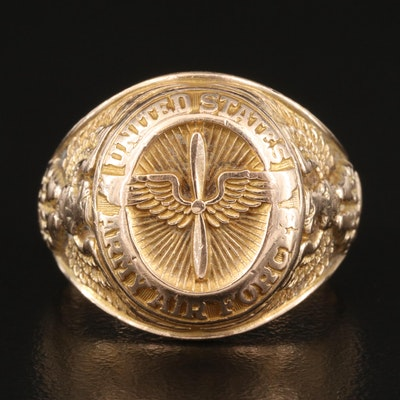 10K United States Army Air Force Ring