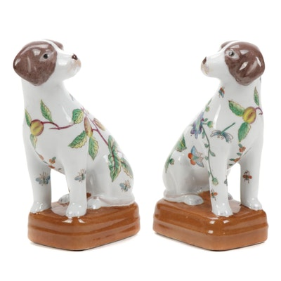 Ceramic Dog Figurines, Late 20th to 21st Century