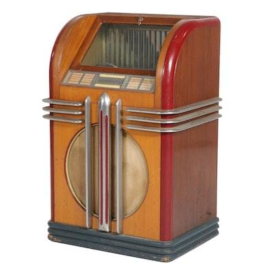Widdicomb Art Deco Style Mahogany Jukebox, Early to Mid 20th Century