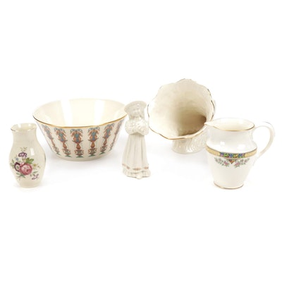Lenox and Royal Copenhagen Vases, Pitcher, Figurine and Bowl
