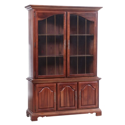 Baroque Style Cherrywood China Cabinet, Late 20th Century