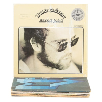 "Elton John ""Madman Across The Water"", ""Honky Chateau"", Other Vinyl LP Records"