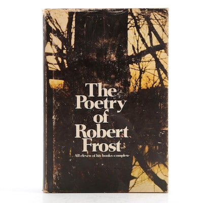 """First Edition Thus """"The Poetry of Robert Frost"""" Edited by Edward C. Lathem, 1967"""