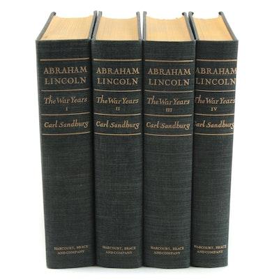 """Abraham Lincoln: The War Years"" Four-Volume Set by Carl Sandburg, 1939"