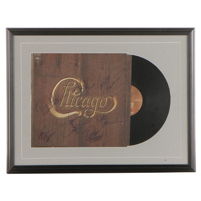 Chicago Signed Record Album Cover in Frame