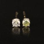 14K 0.21 CTW Diamond Stud Earrings