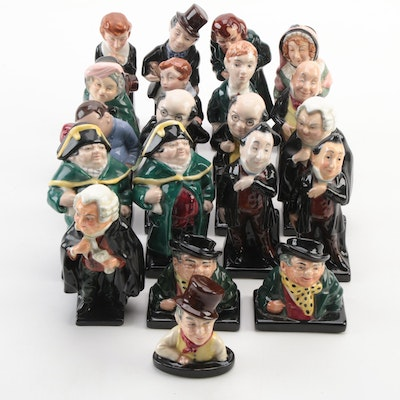 """Royal Doulton """"Tony Weller"""", """"Bumble"""" and Other Bone China Character Figurines"""