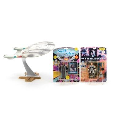"""Star Trek: Enterprise"" Ship Model and Action Figures, Late 20th Century"