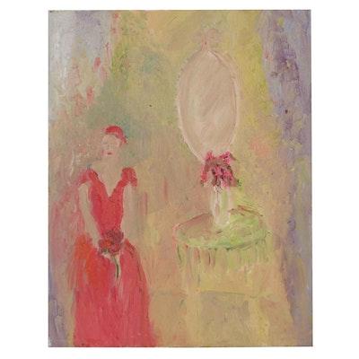 Laura Allgood Figural Oil Painting, Circa 2000