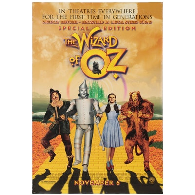 """""""The Wizard of Oz"""" Special Edition Theatrical Release One Sheet Poster, 1998"""