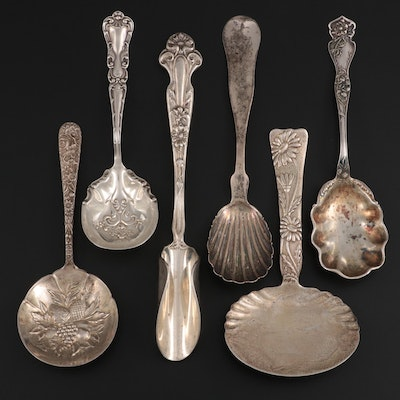 Tiffany & Co. Sterling Silver Bonbon Spoon with Other Silver Spoons