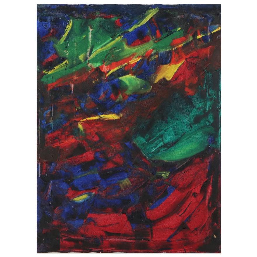 Jon Scharlock Abstract Oil Painting, Circa 2000