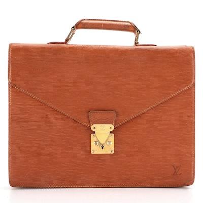 Louis Vuitton Ambassador Two Compartment Briefcase in Cipango Gold Epi Leather