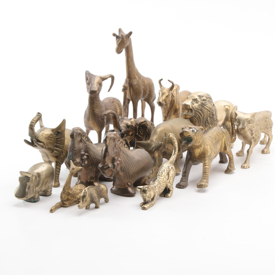 Brass Safari Animals