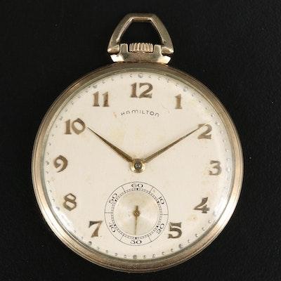 1954 Hamilton Watch Co. 10K Gold Filled Pocket Watch