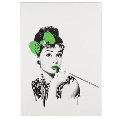 "Death NYC Pop Art Graphic Print ""Audrey Melt Green,"" 2020"