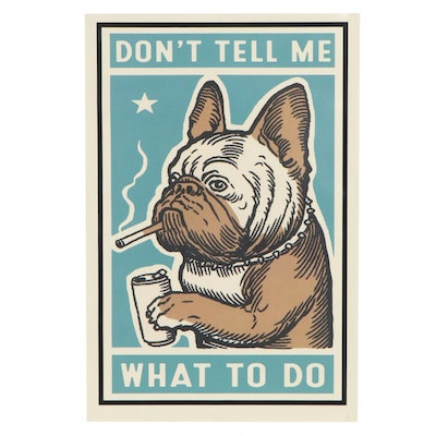 """Giclée After Ravi Zupa """"Don't Tell Me What To Do,"""" 21st Century"""