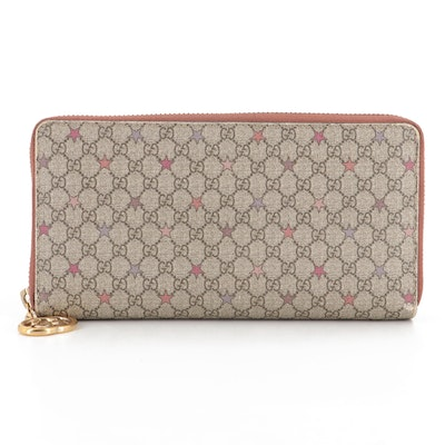 Gucci Continental Zip Wallet in Guccissima Star Print Coated Canvas